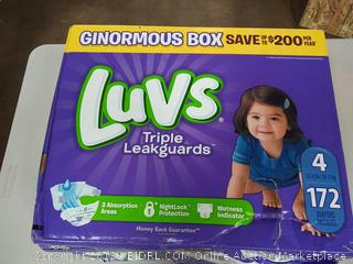 Luvs Ultra Leakguards Disposable Baby Diapers, Size 4, 172 Count