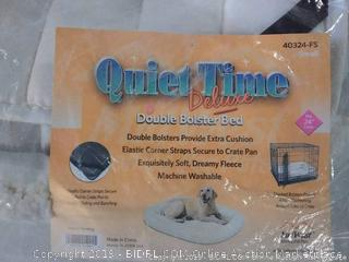"""Quiet Time Deluxe Small Double Bolster Bed, Fits 24"""" Crate"""
