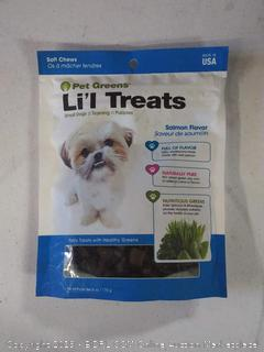 Pet Green Li'l Treats For Small Dogs, Healthy Soft Chews, Salmon Flavor