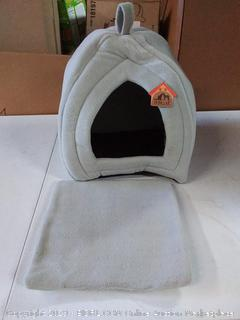 Hollypet Self-Warming Foldable Comfortable Triangle Cat Bed