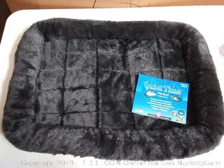 MidWest Deluxe Bolster Pet Bed for Dogs & Cats, Grey