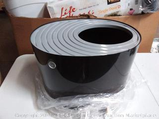 IRIS Top Entry Cat Litter Box Black/Light Gray