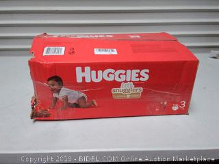 Huggies Little Snugglers Baby Diapers, Size 3, 156 Count. missing one pack of diapers
