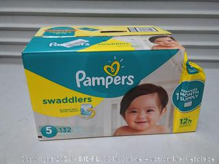 Pampers Disposable Diapers Swaddlers Size 5, 132 Count