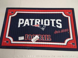 Team Sports America 41EM3818B New England Patriots Embossed Door Mat