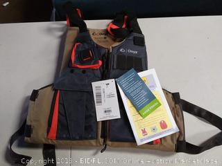 "Onyx Kayak Fishing Life Jacket,Tan- Adult Oversize Size 45""-65"""