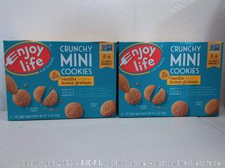 Enjoy life crunchy mini cookies vanilla honey Graham - Box of 6