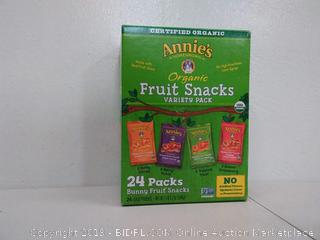 Annie's homegrown organic fruit snacks variety pack