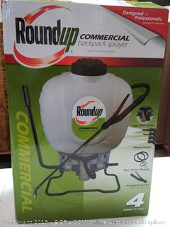 RoundUp 190426 Commercial backpack sprayer for professionals applying weed killer and fertilizer, 4 gallon