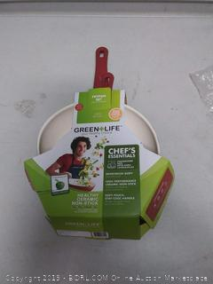 GREENLIFE 2 PIECE Non-Stick Ceramic 7 Inch and 10 Inch Fry Pan (large pan dented)