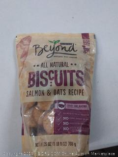 Purina Beyond Natural Limited Ingredient Biscuits, Salmon & Oats Recipe Dog Treats, 25 Oz Bag
