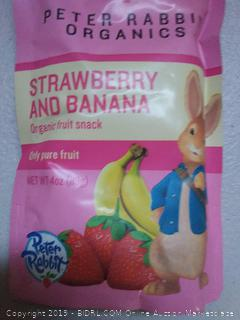 Peter Rabbit Organics Strawberry & Banana Fruit Snack Pouches