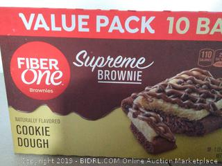 Fiber One Supreme Brownie Cookie Dough Bars, 10 ct - 4 Boxes
