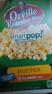Orville smart pop butter popcorn Box of 12 bags