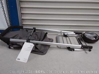 Homz Euro Shopping Tote Cart w/Fabric Bag, Foldable, Aluminum Frame