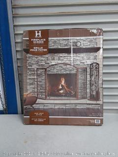 3 Panel Oakleaf Fireplace Screen