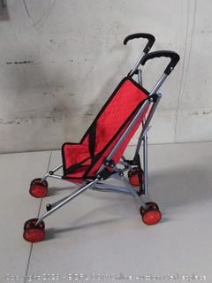 The New York Doll Collection First Dolls Stroller for Kids, 18""