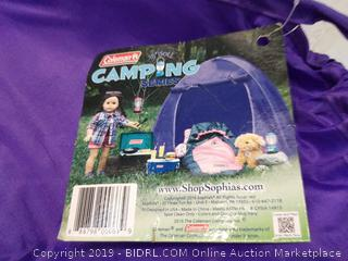 "Coleman 18"" Doll Camping Tent (purple)"