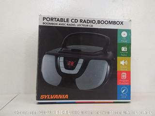 Sylvania Portable, CD, Radio, Boombox, Black
