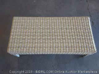 Lyndell Rattan Table - Grey
