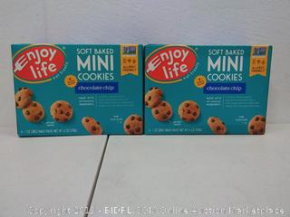 enjoy life soft baked mini cookies chocolate chip 6 boxes