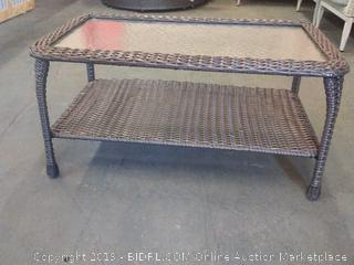 Herrin Rattan Glass Top Table by Darby Home
