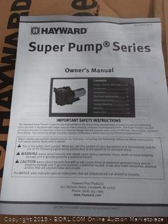 Hayward SP2607X10 Super Pump 1 HP Pool Pump (Online $420)