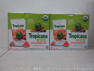 Tropicana Kids Watermelon flavored drink 32 pouches
