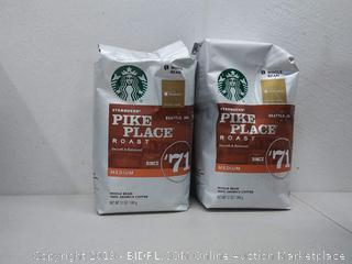 Starbucks Pike Place medium roast 6 bags