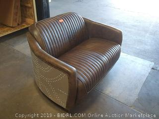 Analise Leather Loveseat by Modern Rustic Interiors (Undamaged Online Price $1599.99!)