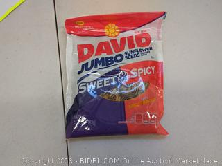 David jumbo sunflower seeds sweet and spicy 12 bags