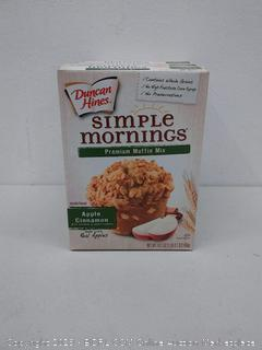 Duncan Hines simple morning's premium muffin mix apple cinnamon 4 boxes