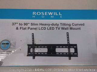 Rosewill Heavy Duty Low Profile Tilting TV Wall Mount for Most 37 to 90 Inch LED LCD Flat Screen Monitor up to 165 lb VESA 800x400 mm TV Bracket, RHTB-17005