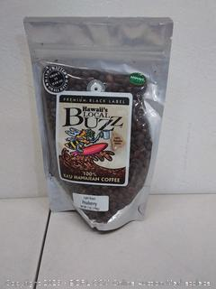 Hawaii local Buzz peaberry light roast 7oz