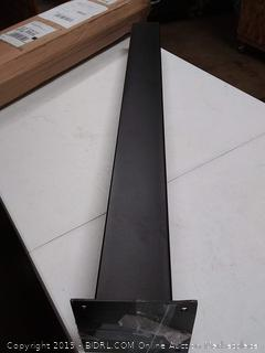 """4"""" x 4"""" 2mm thick steel post for mailbox"""