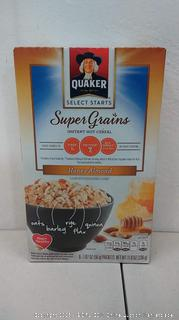 Quaker Oatmeal - Super Grains honey almond  6 Boxes (6 packets in each box)