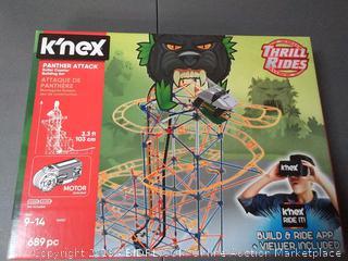 K'NEX Panther Attack Roller Coaster Building Set, Ages 9-14