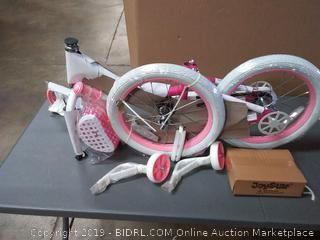 "JoyStar 12"" Girls Bicycle w/Training Wheels & Basket, Ages 2-4"
