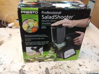 Presto 02970 Pro Salad Shooter & Electric Food Slicer Shredder