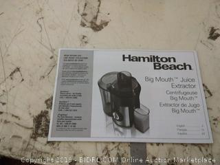Hamilton Beach Juicer Machine, Big Mouth 3 Feed Chute, Easy to to Clean (67601A), 800 Watts, Black