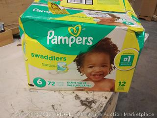 Diapers Size 6, 72 Count - Pampers Swaddlers Disposable Baby Diapers, Giant
