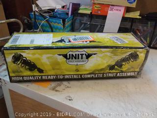 Unity Automotive 11361 Complete Strut, Spring, and Strut Mount Assembly (Front Left Quick)