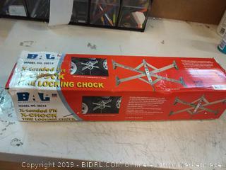 BAL 28014 X-Tended Fit X-Chock Locking Tire Chock