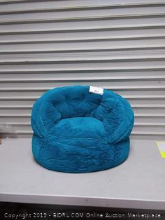 Heritage Kids Toddler Rabbit Fur Bean Bag Chair, Teal