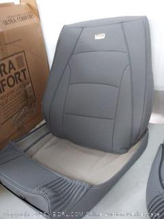 FH Group PU205SOLIDGRAY102 Solid Gray Ultra Comfort Leatherette Front Seat Cushion (Airbag Compatible)