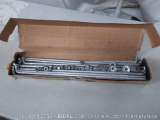 I/2-13x24 anchor bolts galvanized 25 count (missing 4 nuts)