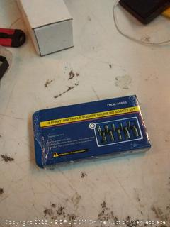 12 point mm triple square spline bit socket set