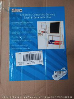 Children's Combo Art Drawing Easel & Desk with Stool
