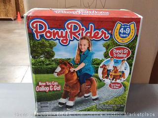 Basic Fun Inc Ponyrider White Hoof Pony on Wheels, Light Brown