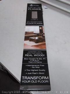Nexus planks light gray 6 in by 36 in South adhesive vinyl floor planks